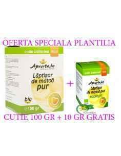 Pachet Laptisor de matca pur bio 100 gr + 10 gr bio GRATIS Apivitalis