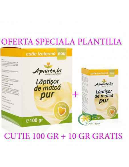 Laptisor de matca pur 100 gr + 10 gr GRATIS Apivitalis