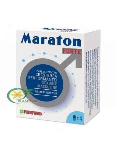 Maraton forte4 capsule ParapharmCapsule pentru creșterea performanței sexuale masculineMod de prezentare:4capsule gelatinoase