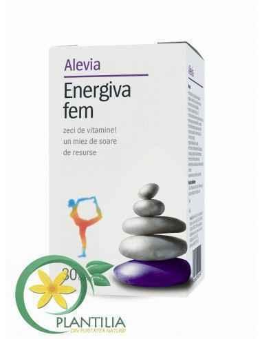 Energiva Fem 30 comprimate Alevia, Energiva Fem 30 comprimate Alevia Asigură doza zilnică de vitamine necesare organismului, aju