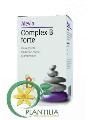 Complex B Forte 100 cpr Alevia, Complex B Forte 100 cpr Alevia Reface metabolismul și sistemul imunitar.Crește nivelul de energi