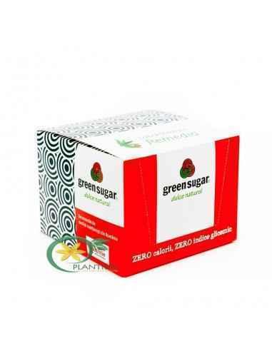 Indulcitor Natural Green Sugar 50 sticks + 6 suporturi pahare GRATIS Remedia Indulcitor natural din extract de Stevia rebaudiana