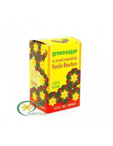 Indulcitor Green Sugar cu aromă naturală de Vanilie Bourbon 10 plicuri Remedia Aroma naturală de Vanilie Bourbon din compoziție