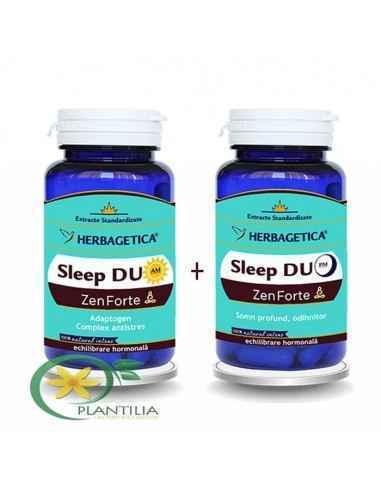 Sleep Duo AM/PM 120 + 120 capsule Herbagetica Rețeta Sleep DUO AM ajută la menținerea echilibrului psiho-emotional și la diminua