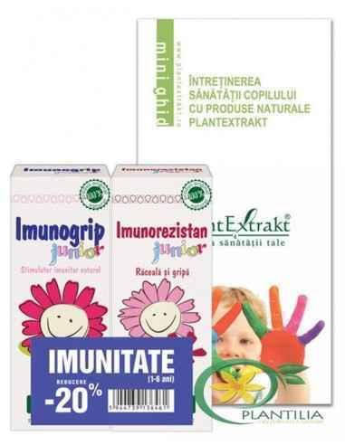Pachet de Imunitate Copii 1-6 ani PlantExtrakt (Imunogrip ,Imunorezistan junior), Pachet de Imunitate Copii 1-6 ani PlantExtrakt