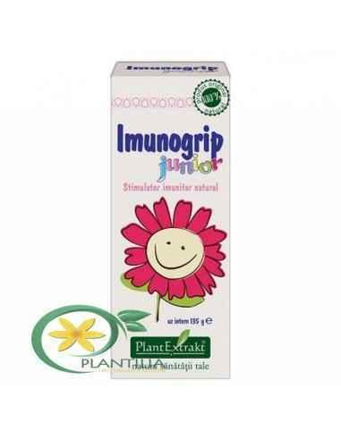 Imunogrip Junior 135 ml PlantExtract Creştea rezistenţa organismului în perioade cu risc crescut de apariţie a infecţiilor gripa
