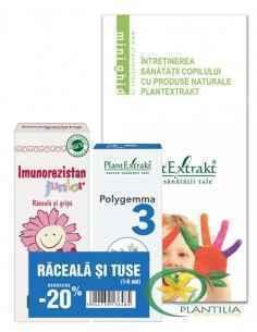 Pachet Raceala si Tuse 1-6 ani PlantExtrakt ( Imunogrip + Polygemma 3)