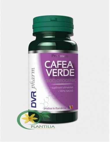 Cafea Verde 60 capsule DVR PHARM, Cafea Verde 60 capsule DVR PHARMContribuie la buna funcționare a pancreasului, contribuie la n