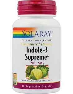 Indole-3 Supreme 200mg 30 capsule vegetale Solaray