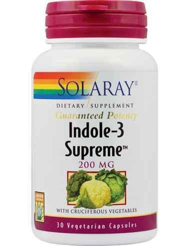 Indole-3 Supreme 200mg 30 capsule vegetale Solaray, Indole-3 Supreme 200mg 30 capsule vegetale SolarayFormula complexa ce ajuta