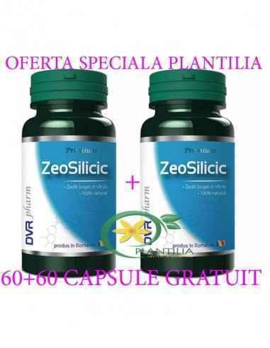 ZeoSilicic 60 +60 capsule GRATUIT  DVR Pharm, Pachet ZeoSilicic 60 +60 capsule GRATUIT DVR Pharm Zeolitul silicic este o formă