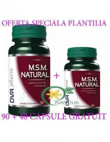 MSM Natural 90 + 40 capsule GRATUIT DVR Pharm Este un supliment dedicat afecțiunilor reumatice de toate tipurile, fiind un adjuv