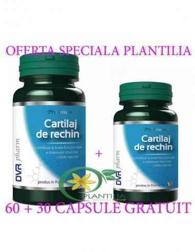 Cartilaj de rechin 60 + 30 capsule GRATUIT DVR Pharm Un excelent ajutor în afecțiunile articulare (reumatice, post-traumatice) ș