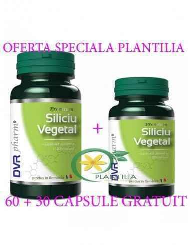 Siliciu Vegetal 60 + 30 capsule GRATUIT DVR Pharm, Siliciu Vegetal 60 + 30 capsule GRATUIT DVR Pharm Siliciul este unul dintre e