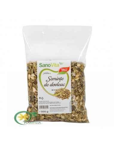 Seminte de dovleac 500 g SanoVita, Seminte de dovleac 500 g SanoVita Bogate în antioxidanți şi betacaroten, semințele de dovleac