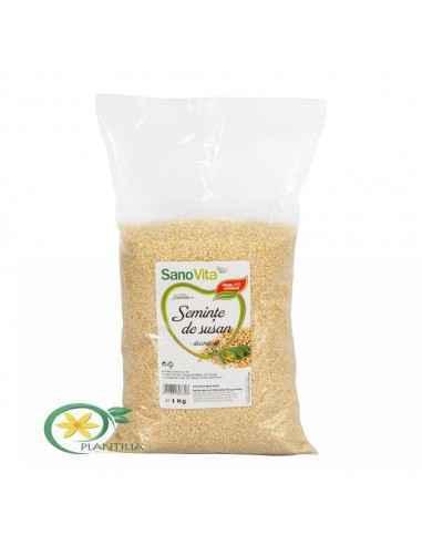 Semințe de susan decorticat 1 kg SanoVita