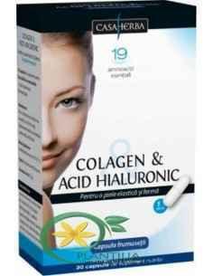 Colagen si Acid Hialuronic 30 cps Casa Herba
