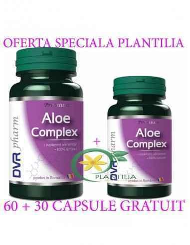 Aloe Complex 60 + 30 cps GRATUIT DVR Pharm, Aloe Complex 60 + 30 cps GRATUIT DVR Pharm Este un amestec de extracte din două spec