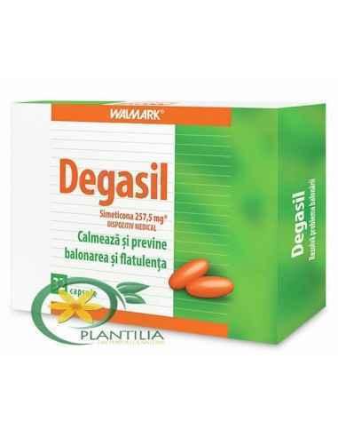 Degasil 32 cps Walmark Degasil este un dispozitiv medical, sub formă de capsule, care îmbunătățește confortul intestinal și abdo