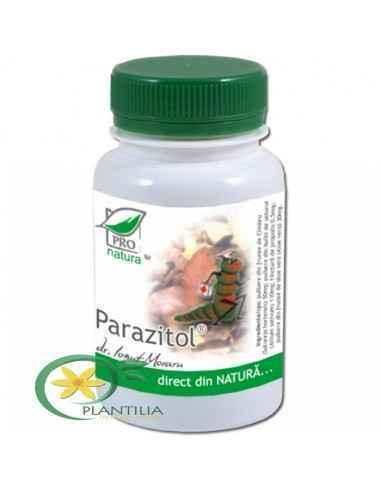 Parazitol 200 cps Pro Natura Medica, Parazitol 200 cps Pro Natura Parazitol are actiune antiparazitara fara a fi insotita de efe
