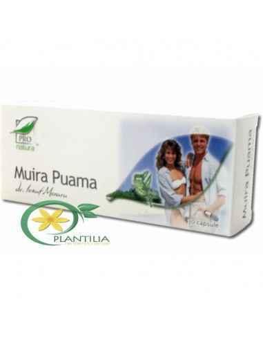 Muira Puama 30 cps Pro Natura Medica Produs recomandat in cazurile de astenie sexuala, scaderea libidoului si tulburari de dinam