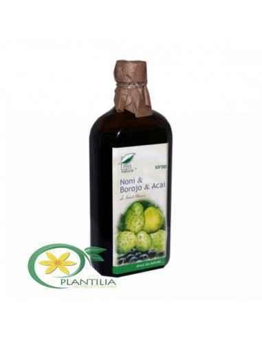 Sirop Noni Borojo Acai 250 ml Pro Natura Medica, Sirop Noni Borojo Acai 250 ml Pro Natura Medica Produsul este un fitocomplex de