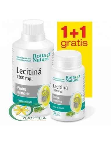 Lecitina 1200 mg 90 + 30 cps GRATUIT Rotta Natura, Lecitina 1200 mg 90 + 30 cps GRATUIT Rotta Natura Pachetul promotional 1+1 Gr
