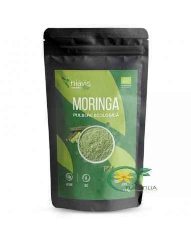 Moringa Pulbere Ecologica 125 g Niavis Foarte bogata in nutrienti, moringa este o comoara pentru sanatatea omului deoarece prezi