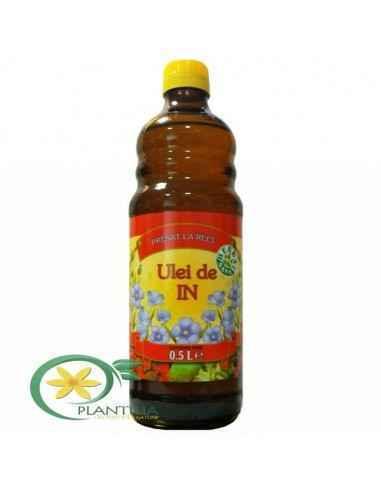 Ulei de in presat la rece 500 ml Herbavit Uleiul de in se obţine prin presarea la rece a seminţelor de in şi conţine: acizi graş
