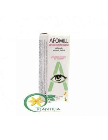 Afomill Decongestionant 10 ml AF United Spa Afomill Decongestionant este un distilat vegetal util pentru a elimina roseata ochiu
