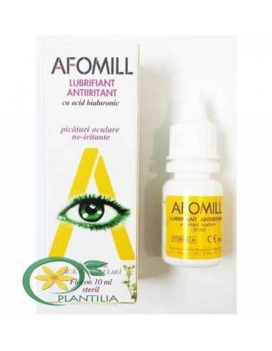 Afomill Lubrifiant Antiiritant 10 ml AF United Spa Afomill Decongestionant este este o solutie oftalmica izotonica tamponata lub