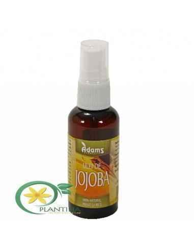 Ulei de Jojoba 50ml Adams Uleiul de jojoba este un ulei recomandat si tenului gras.Este bogat in antioxidanti si vitamine, in sp