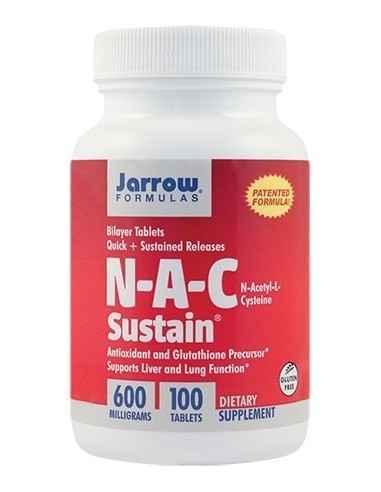 N-A-C Sustain 600mg 100 tablete Jarrow Formulas, N-A-C Sustain 600mg 100 tablete Jarrow FormulasN-Acetil-L-Cisteina, antioxidant