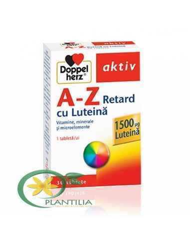 A-Z Retard cu Luteina 30 cpr Doppelhertz Activ Doppelherz Aktiv A-Z Retard cu Luteina contine o gama intreaga de vitamine si min