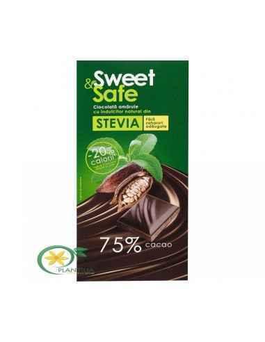 Ciocolata amaruie fara zahar 90g Sweet&Safe