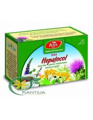 Ceai Hepatocol 20 plicuri Fares, Ceai Medicinal Hepatocol 20 plicuri Fares Susţine funcţionarea sănătoasă a ficatului si ajuta l