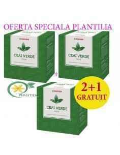Ceai Verde Frunze 100 g 2+1 GRATUIT Parapharm