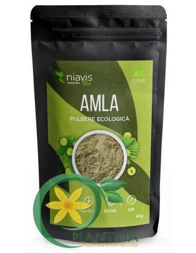 AMLA Pulbere Ecologica 60 g Niavis, AMLA Pulbere Ecologica 60 g Niavis Pudra de amla este pulberea obtinuta prin macinarea fruct