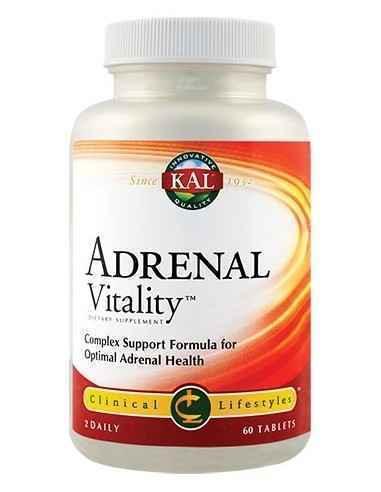 Adrenal Vitality 60 cpr Kal, Adrenal Vitality 60 cpr Kal Formula complexa cu rol in imbunatatirea capacitatii organismului de ad