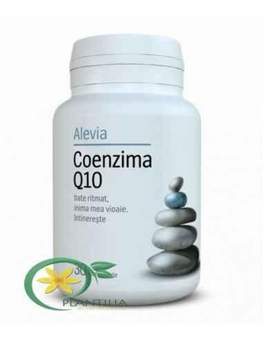 Coenzima Q10 10 mg 30 cpr Alevia Asigură energie pentru funcționarea ritmică a mușchiului inimii, protejându-l, mărește capacit