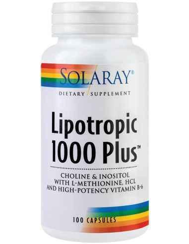 Lipotropic 1000 Plus 100 cps Solaray Ajuta la reducerea acumularii si depozitarii de grasimi in ficat si la nivelul sistemului c