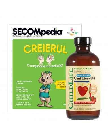 Cod Liver Oil 237ml ChildLife, Cod Liver Oil 237ml (gust de capsune) ChildLifeAjuta la mentinerea sanatatii sistemelor osos si n