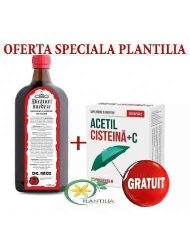 Picaturi suedeze Bitter Bano 500ml + Acetil Cisteina 30 cps GRATIS Parafarm Pachet creat special pentru tine! Acest produs natur