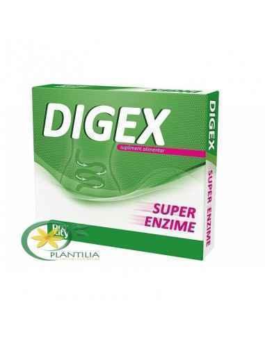 Digex 10 cps Fiterman DIGEX SUPER DIGESTIV contine un complex de 8 enzime digestive care actioneaza asupra unei mari varietati d
