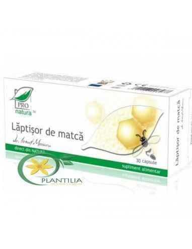 Laptisor de Matca 30 capsuleProNatura Medica  Produs cu rol esential in metabolism glucidic, lipidic si protidic si cu proprie