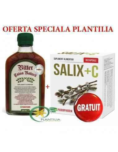 Bitter Taina Naturii 200 ml +Salix +C GRATUIT Parapharm Acest produs natural este obținut după o rețetă originală, datată din s