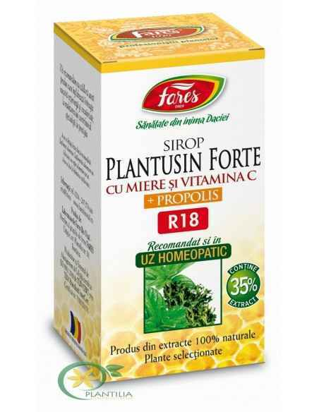 Sirop Plantusin Forte cu Miere si Propolis 100 ml Fares