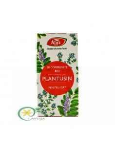 Plantusin pentru Gat 30 cpr Fares, Plantusin pentru Gat R13 30 cpr Fares Calmant al iritaţiei mucoasei bucale, faringiene şi a c