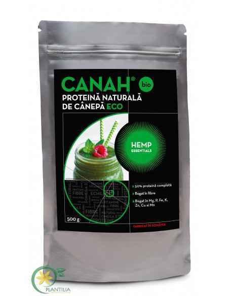 Pudra proteica de canepa CANAH BIO 500g