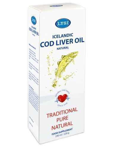 Cod Liver Oil Natural (Ulei din ficat de cod) 240 ml Lysi